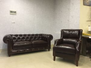 Flokser leather chesterfield kanepe