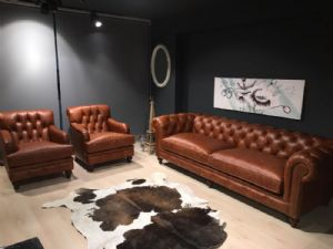 LONDON REAL LEATHER CHESTERFİELD